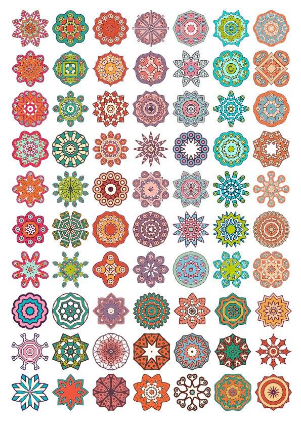 Vector Decorative Mandala Ornaments Free Vector