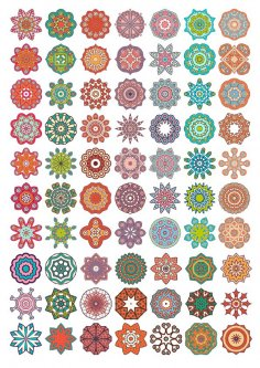 Vector Decorative Mandala Ornaments Free Vector