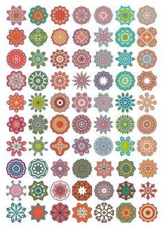 Vector Decorative Mandala Ornaments