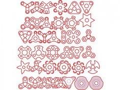 Spinner Laser Cut PDF File