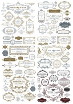 Vintage Frame Collection Free Vector