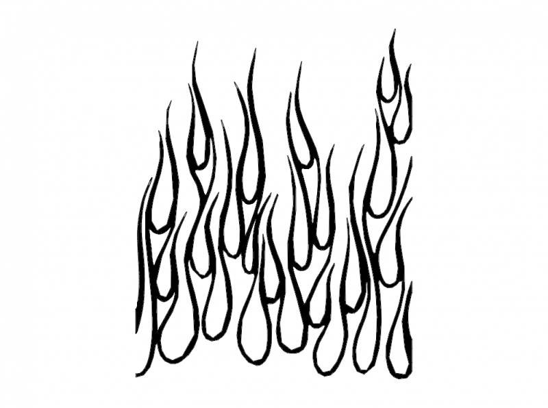 Flames up dxf File