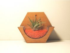 Mini wall Pot CNC 3D Puzzle CDR File