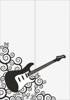 Guitar Sandblast Pattern Free Vector
