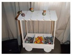 Candy Cart Lasercut 3D Puzzle CDR File