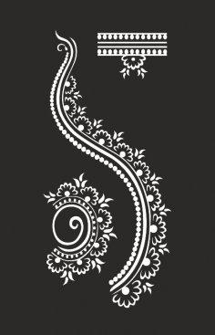 Henna design Free Vector