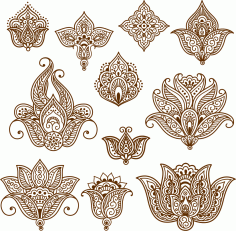 Henna Mehndi Tattoo Doodles Vector Design Free Vector