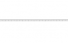 12 Inch Ruler dxf File