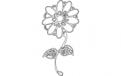Daisy.Flower dxf File