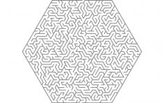 Maze Hexa Shape dxf File