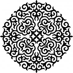 Ornament Stencil Free Vector