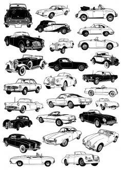 Classic Car Vectors Free Vector
