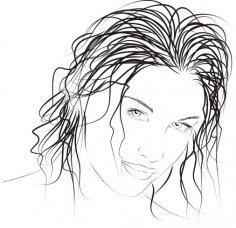 Drawn woman vector Free Vector