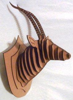 Antelope 3D Puzzle CNC Router Plan DXF File