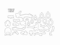 Dinosaur 3D Puzzle dxf File
