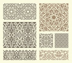 Scrollwork Islamic Pattern Collection dxf File