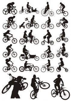 Bicycles Silhouettes