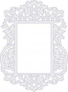 Decorative Frame Laser Cut PDF File