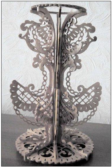 Wooden Vase Scrool Saw Pattern PDF File
