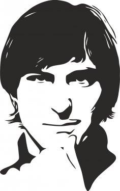 Steve Jobs Stencil Free Vector