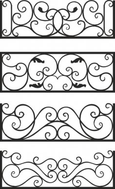 Steel Balcony Rails Free Vector