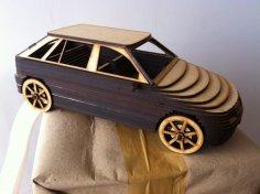 Car Mdf 3D Laser Cutting CDR File