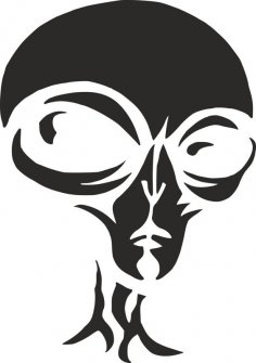 Alien Pumpkin Carving Stencil dxf File