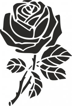 Rose Stencil dxf File
