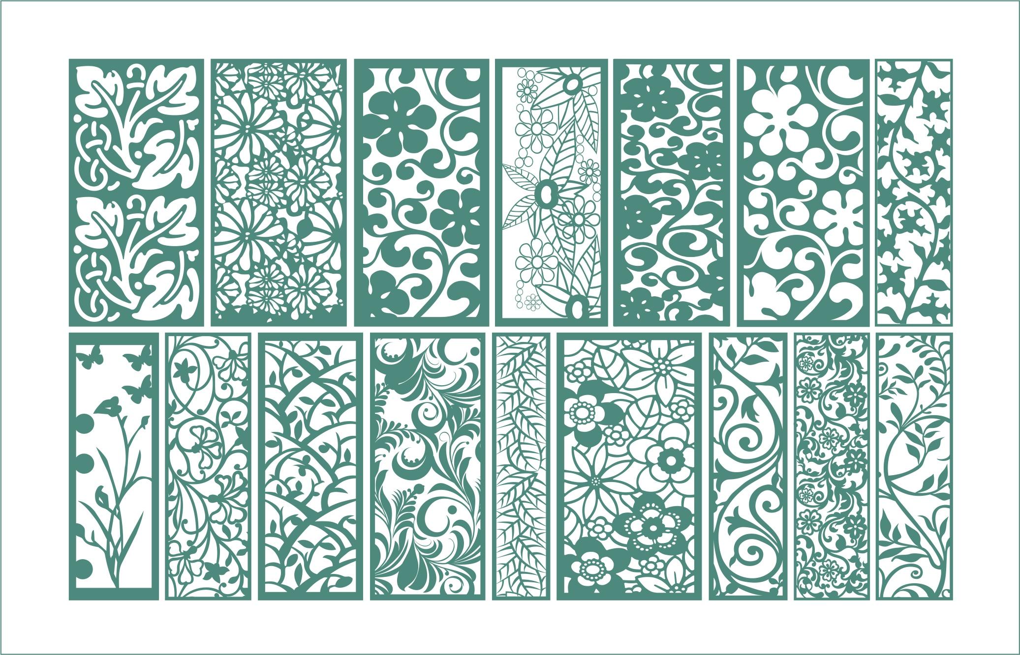 Floral Ornament Vectors Free Vector