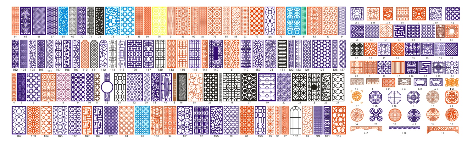 Kit Panels to Cut CDR Format Vector Free Vector