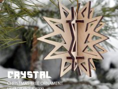 Crystal. Christmas tree ornament DXF File