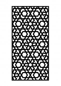 Islamic art dxf File