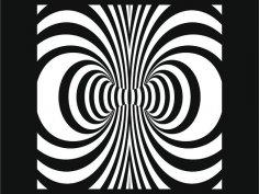 Swirl Laser Cut dxf File