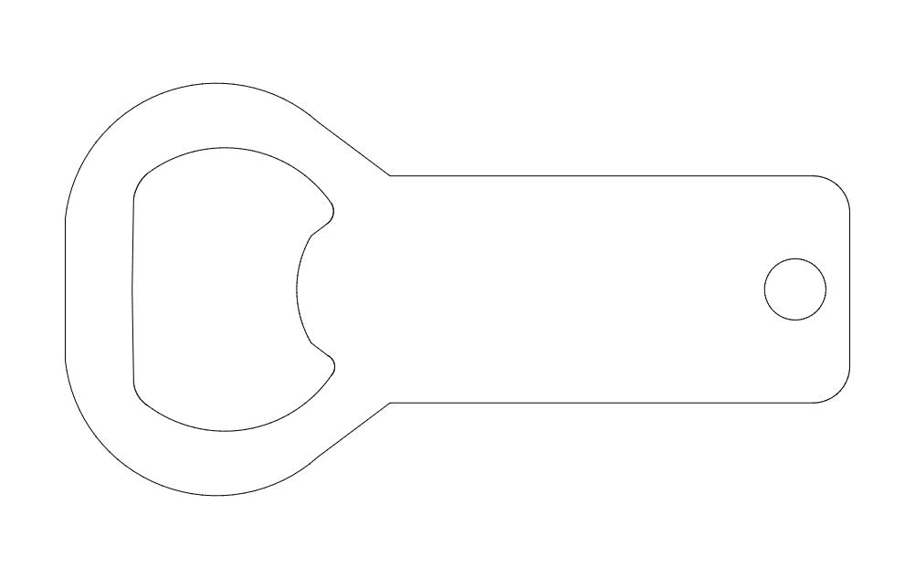 Bottleopener Blank dxf File