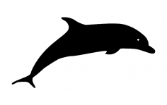 Dolphin Silhouette dxf File