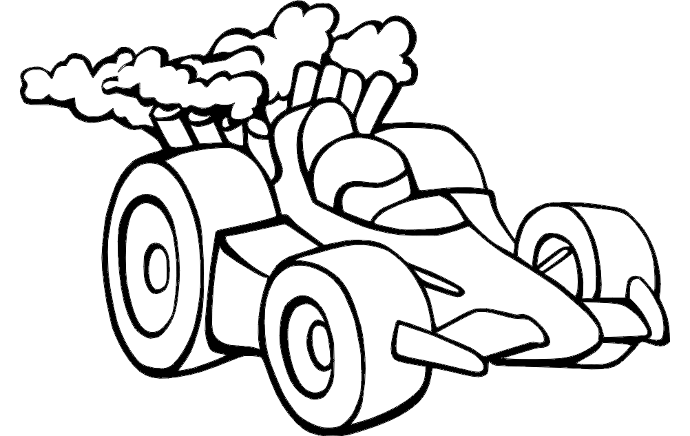 Racing Car dxf File