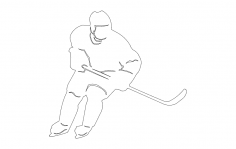 Hockey Player dxf File