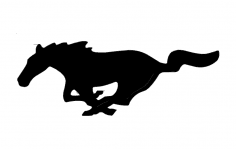 Mustang Horse – Outline dxf File