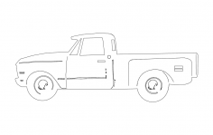 69 chev truck dxf File