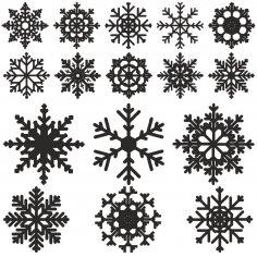 Snowflake vector Free Vector