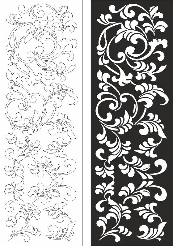 Floral Pattern CDR File