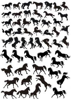 Horse Siluet Free Vector