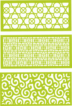 Decorative jali patterns Free Vector