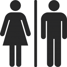 Toilet Man And Woman Sign Free Vector