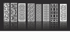 Decorative Screen Collection Free Vector