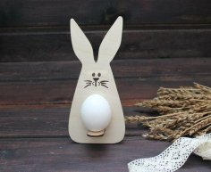 Easter Bunny Egg Holder Laser Cutting Template Free Vector