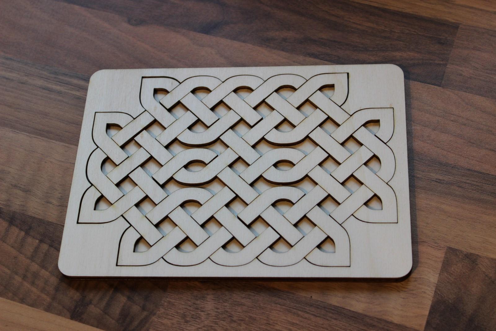 Laser Cut Celtic Knot Tray Puzzle SVG File