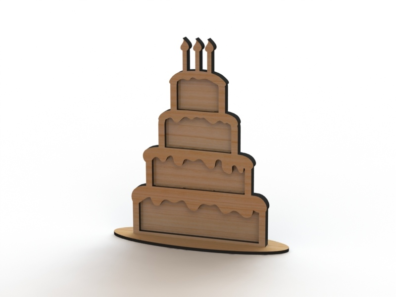 Laser Cut Heart Drop Box Guest Book Cake Free Vector