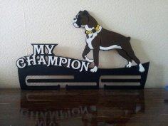 Bulldogs Medal Holder Laser Cut Template Free Vector