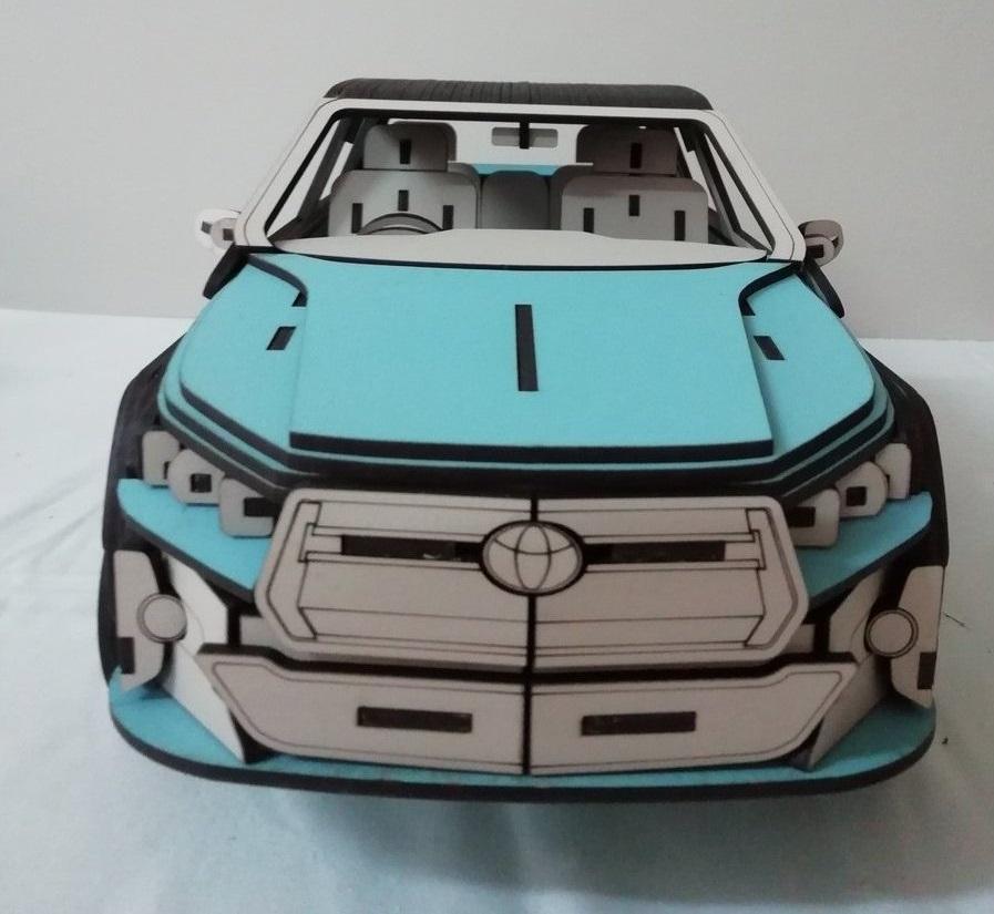 Laser Cut Toyota Hilux 3D Model Free Vector